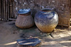 Vase and cooking container in village, Bagan, Myanmar by Alex_Saurel