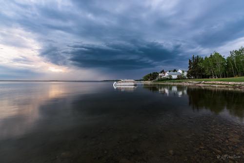 ca lake canada storm reflection water spring alberta 2016 albertabeach lacsteanne