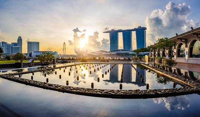 Morning walk at Marina Bay