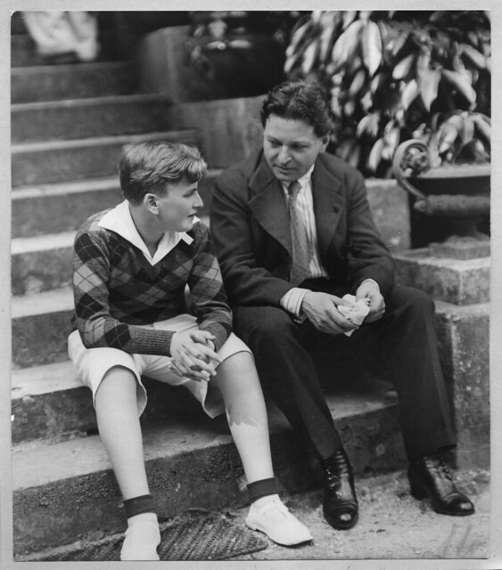 George Enescu with the young Yehudi Menuhin © The George Enescu National Museum, Bucharest
