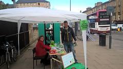 Green Tardis on Leith Walk, Scottish Elections, May 2016