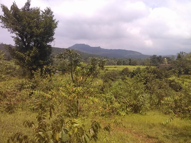 Pratapgad seen from road of Kumathe to Kudpan