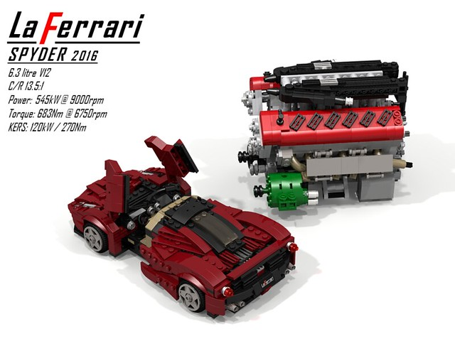 Ferrari LaFerrari Spider (2016) + UCS V12 Engine