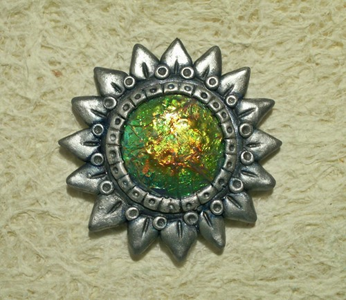 Here comes the Sun ... polymer clay fantasy pendant