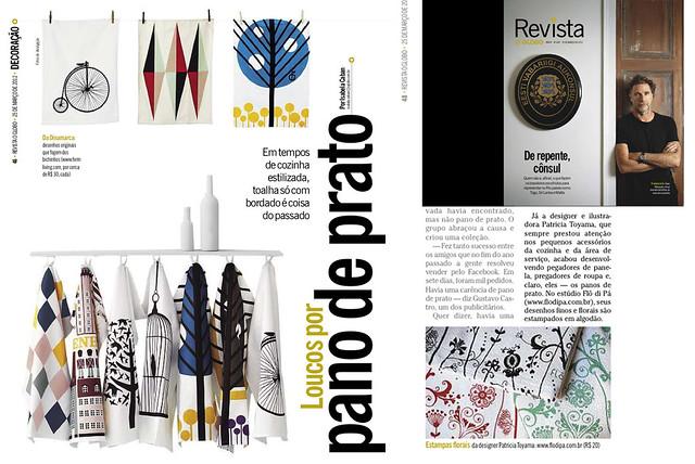 Na Revista do Jornal O Globo 25,mar12