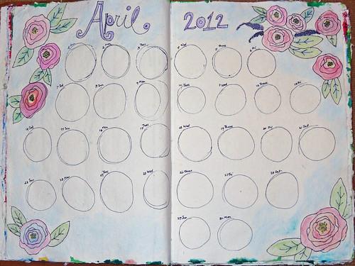April 2012 Calendar Page