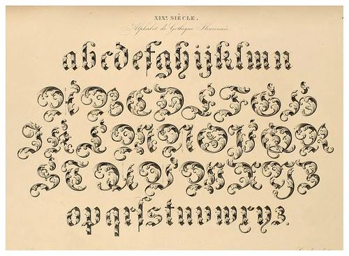 004-Alphabet-Album collection de soixante feuilles d'alphabets historiés 1843- Joseph-Balthazar Silvestre