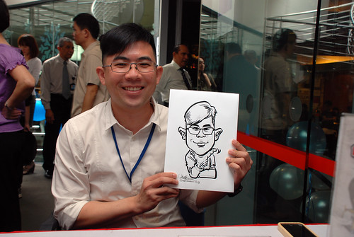 Caricature live sketching for Singapore Suntec City Annual Party - 8