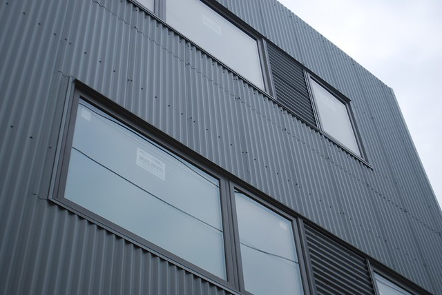 Post Cladding Aluminum : Metal cladding complete at first steel « postgreen homes