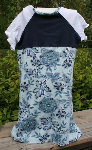 Blue & white floral knit dress