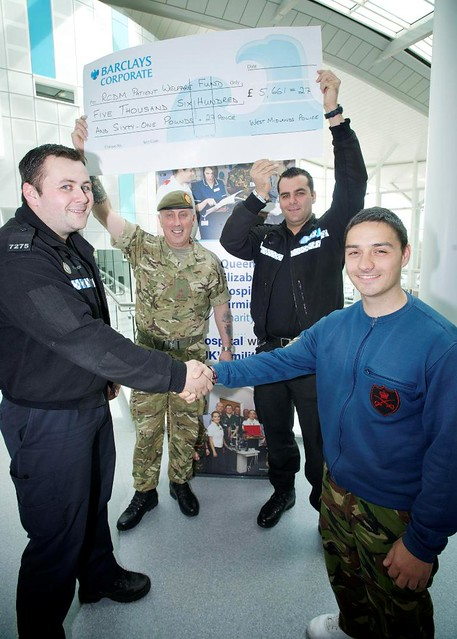 Day 115 - West Midlands Police - Cheque Presentation for wounded soldiers