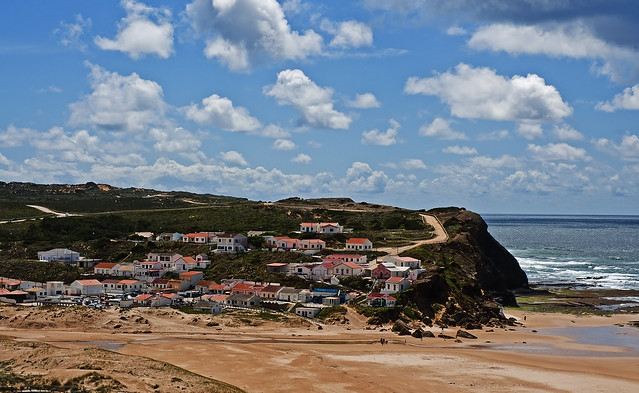Monte Clerigo beach. Costa Vicentina. Portugal.