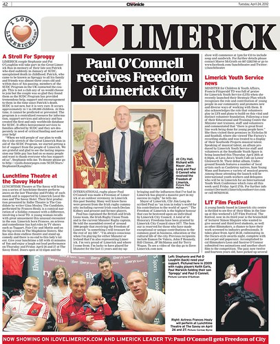 I Love Limerick Chronicle Column 24 April 2012 Page 1
