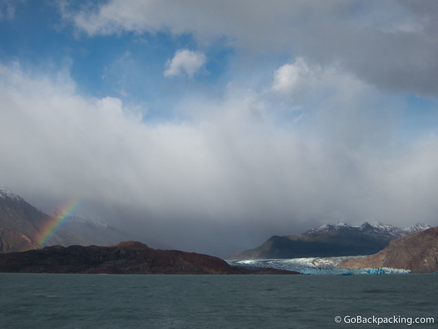 Approaching Viedma Glacier by ferry