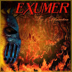 Horns Up Rocks Exumer Fire & Damnation Album Cover