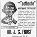 Newspaper advertisement for Dr. J. S. Frost, 1912
