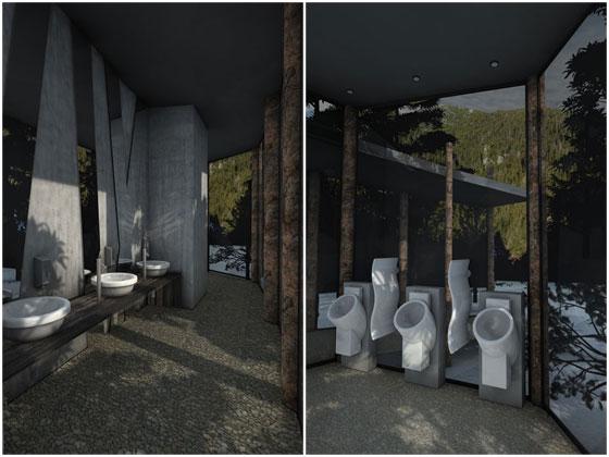 Bathroom On The Trail, Tatra Mountains, by mode:lina architekci
