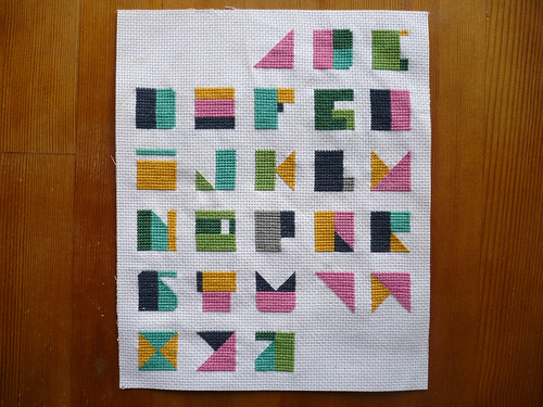 Modern Alphabet Cross Stitch