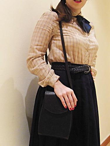 bolso azul marino vintage