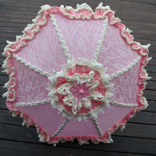 pink ivory lolita parasol 2