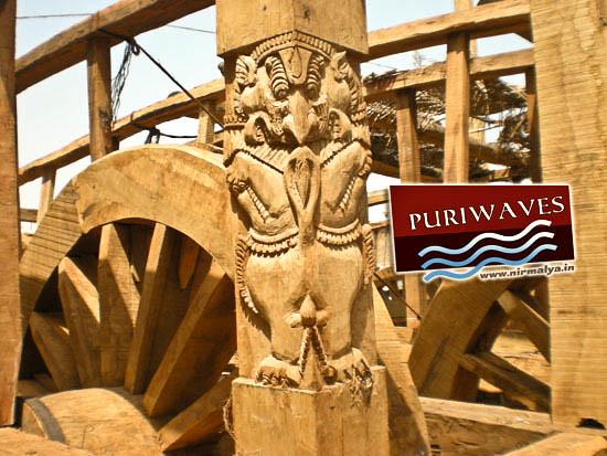 Artwork on Chariots ( Rath ) rathyatra 2012