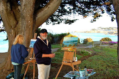 Barry Marshall, Cathy Gale paint a lovely afternoon on the trail