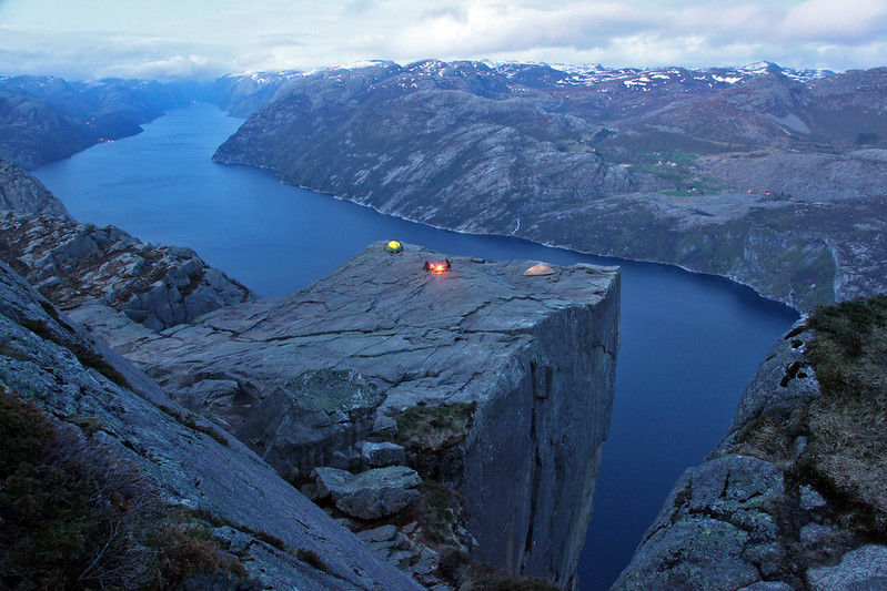 Picture Of The Day Cliff Camping In Norway 171 Twistedsifter