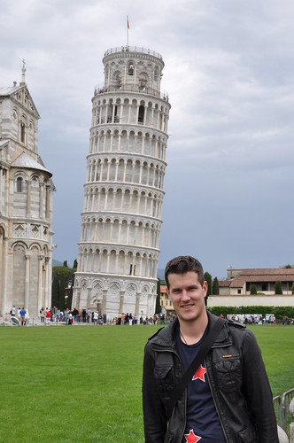 Rob at the Leaning Tower of Pisa
