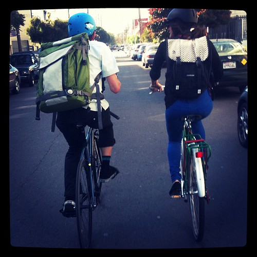 Timbuk2's Greg and Defne on Bike to Work Day