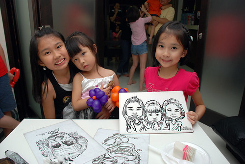 caricature live sketching for a birthday party - 6