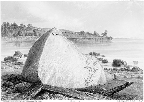Inscription Rock, North Side of Cunningham's Is., Lake Erie