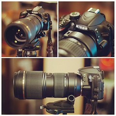 A new addition to the (Nikon) family... After upgrading my lens I couldn't resist upgrading the body as well. Meet my new #Nikon #D3200 with HD video and #Tamron 70-200mm f2.8 lens. Time to start taking more photo gigs so I can pay this sucker off!