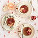 Mandarin & Jasmine Tea Cup Jellies with Raspberries