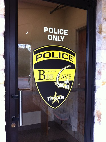 Bee Cave Police Window