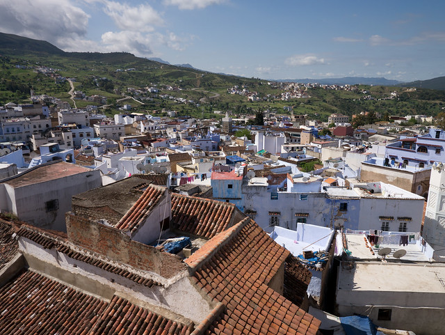 Chefchaouen rooftop, Morocco with Panasonic GX1 and Lumix 7-14mm lens