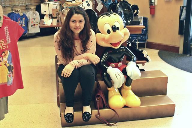 Mi foto con Mickey.