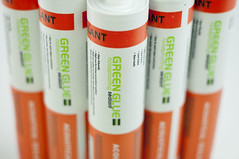 Adding Green Glue Noiseproofing Sealant to your soundproofing project can reduce noise transmission by 100 times or more. Green Glue Noiseproofing Sealant exceeds LEED green building requirements and has been independently tested by Underwriters Laboratories for fire safety and environmental impact.