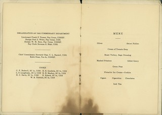 Memorial Day Menu and Program, 1919, Page 2 of 3