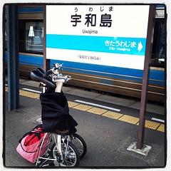 宇和島駅には階段が存在しないので楽だわ~