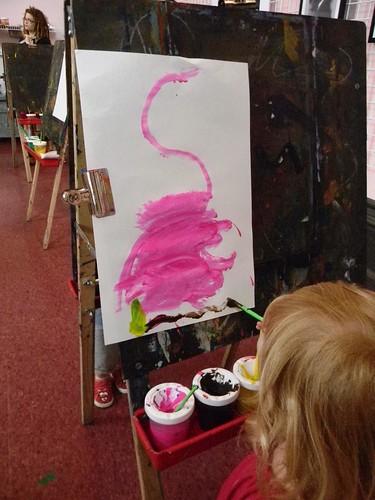 Lucy's flamingo