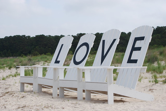 Love chairs at Kiptopeke State Park