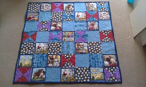 Baby quilts: #1 bound