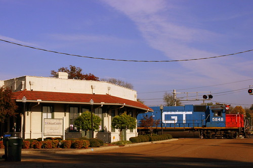 Union City, TN Depot and GT Locomotive