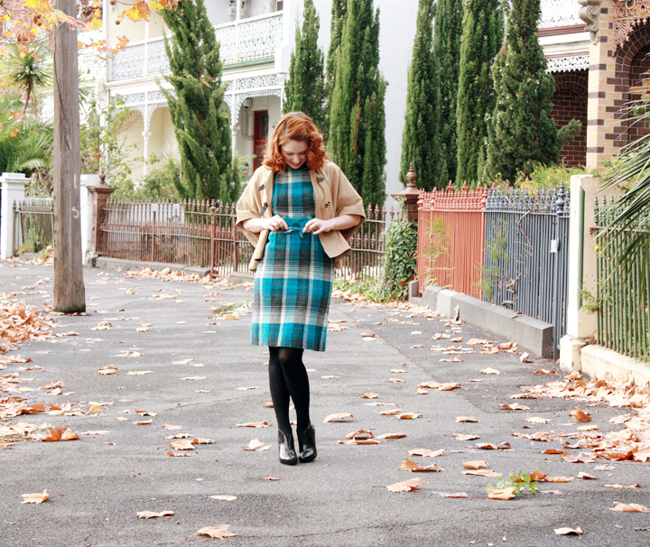 blue plaid cape j