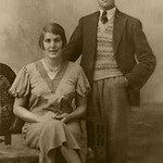 PCK_000007  Mum and Uncle Emlyn  Twins aged 21  1932