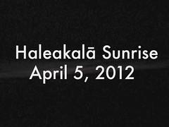 Haleakala summit time lapse