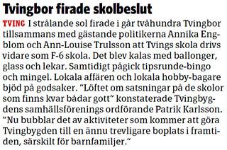 2012-05-21 Sydöstran, Artikel