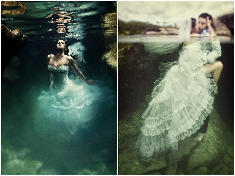 Amazing trash the dress, ocean bride, trash the dress riviera maya
