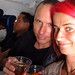 Chris and I enjoying our drinks on our LACSA flight from San Jose to San Salvador 09MAY12