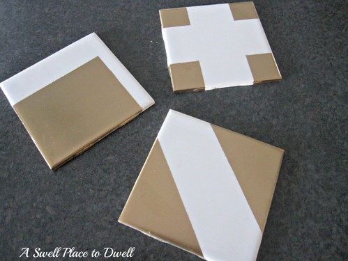 Gold Dipped Coasters